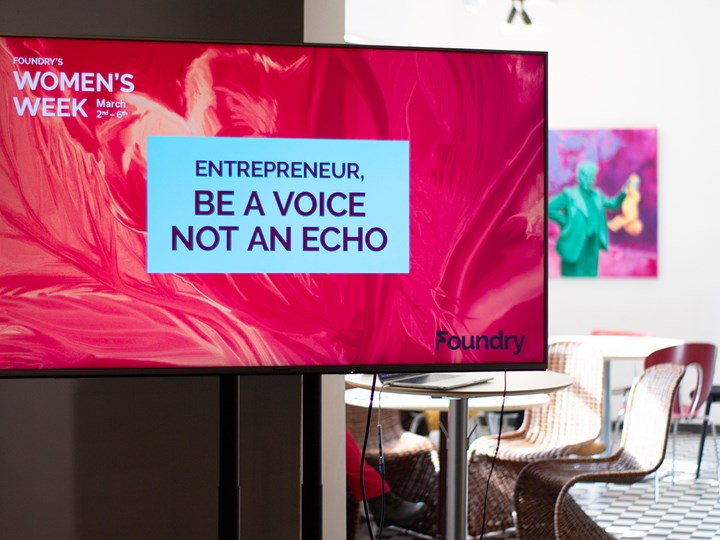 women's week throwback: entrepreneur, be a voice not an echo.