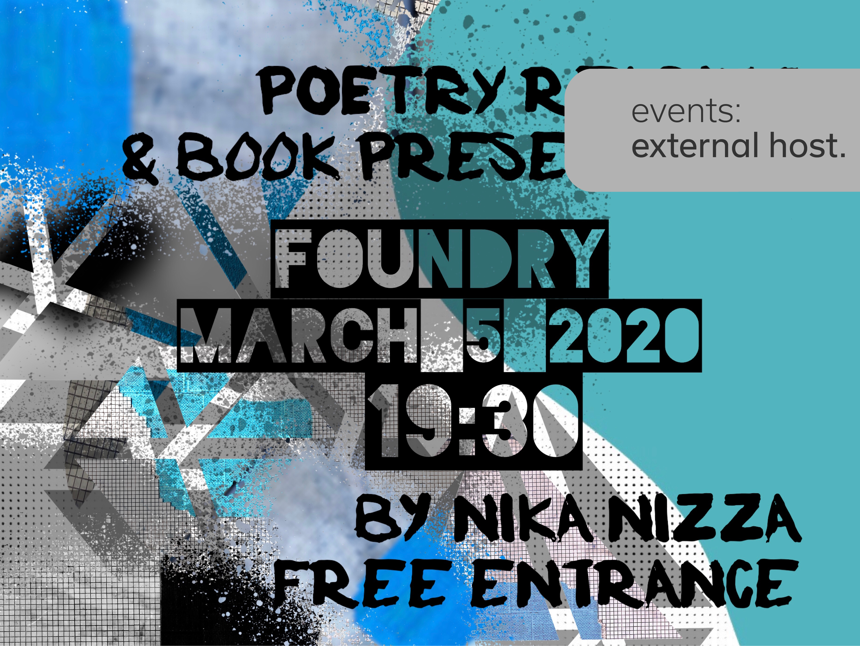 Poetry reading and book presentation — Nika Nizza