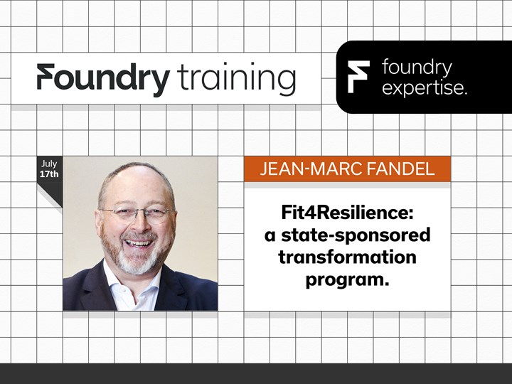 Jean-Marc Fandel: Fit4Resilience: a state-sponsored transformation program